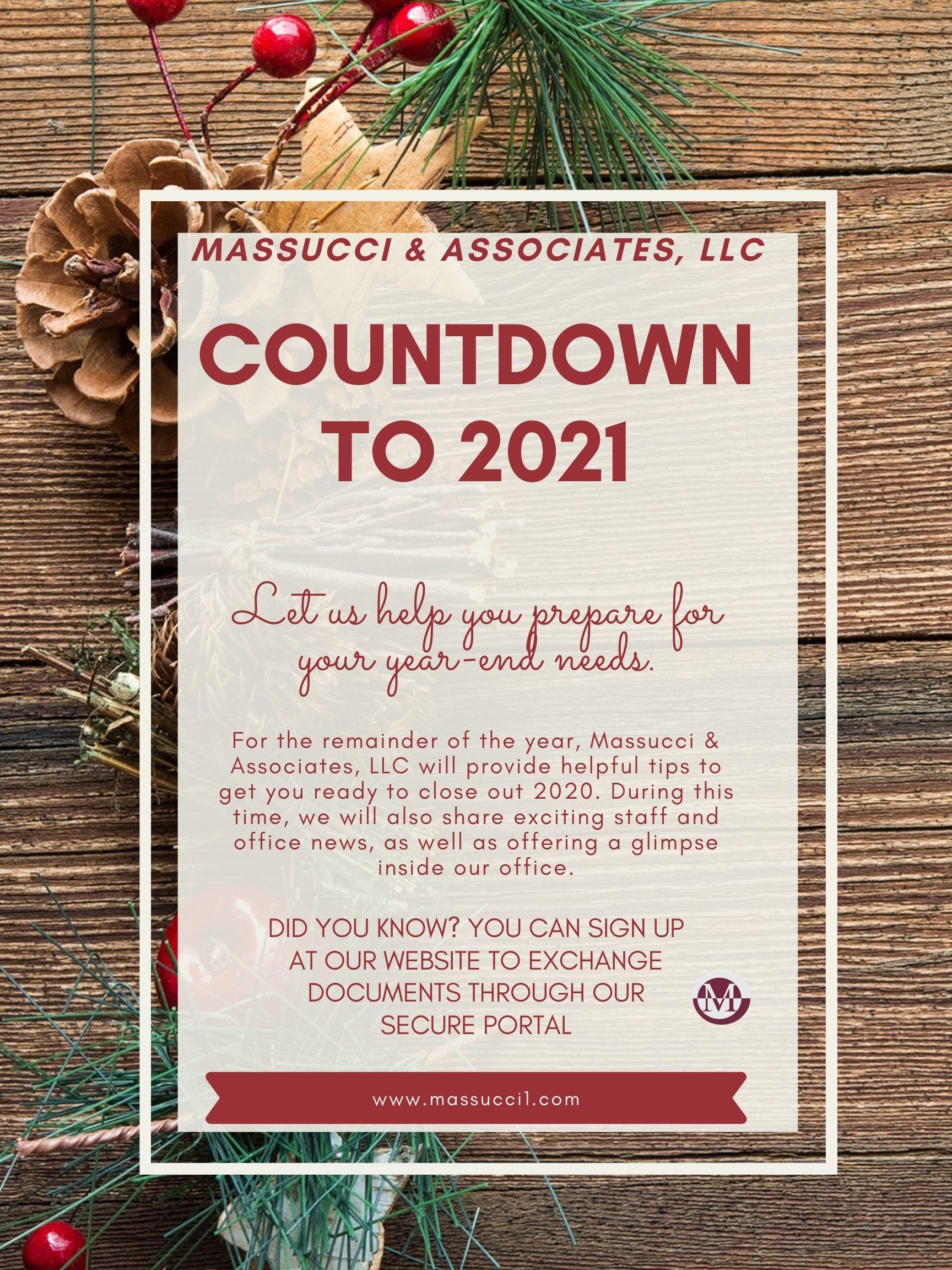 Countdown To Christmas 2021 News Countdown To 2021 Massucci Associates